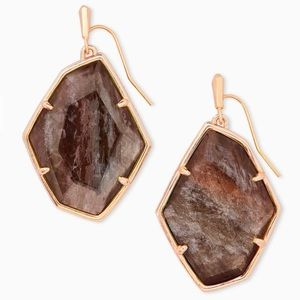 Kendra Scott 'Dunn' Drop Earrings in Sable Mica